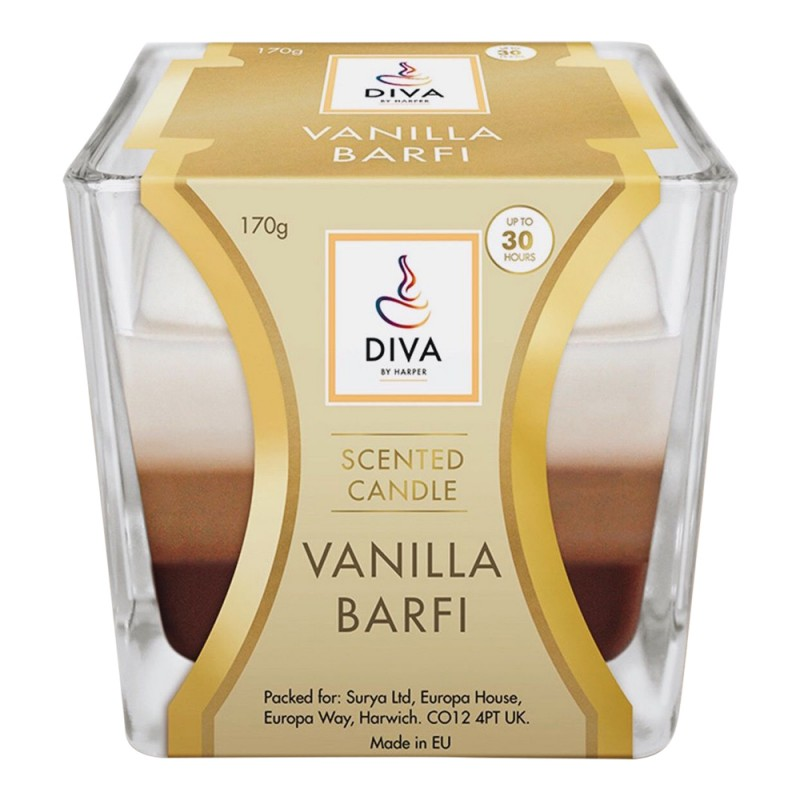 Diva Scented Candle Vanilla Barfi
