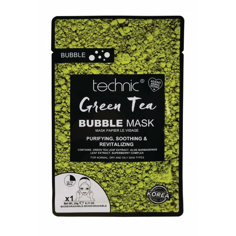 Technic Bubble Tea Sheet Mask Green Tea