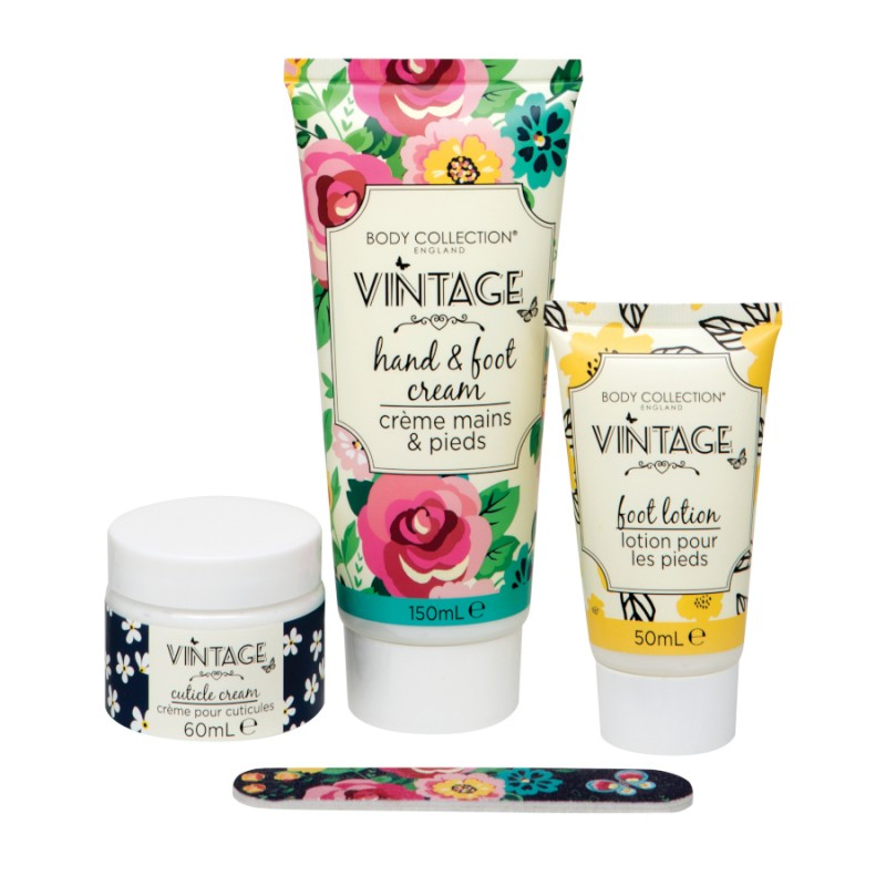 Body Collection Vintage Hand & Foot Treats Pamper Set
