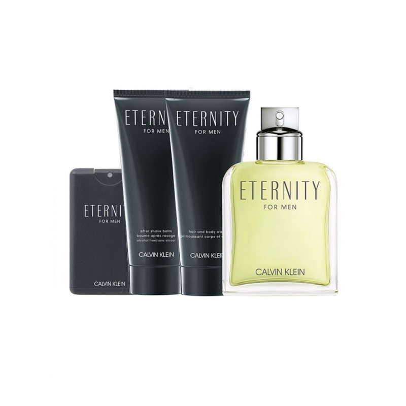 Calvin Klein Eternity For Men EDT & Travel Spray & Shower Gel & After Shave Balm