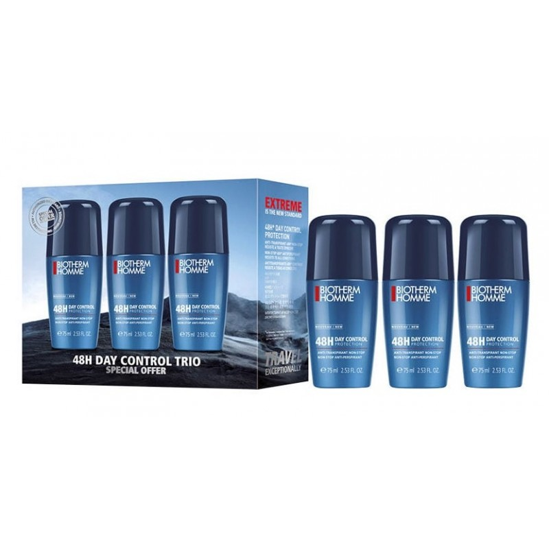 Biotherm Homme 48H Day Control Roll On Deo Trio