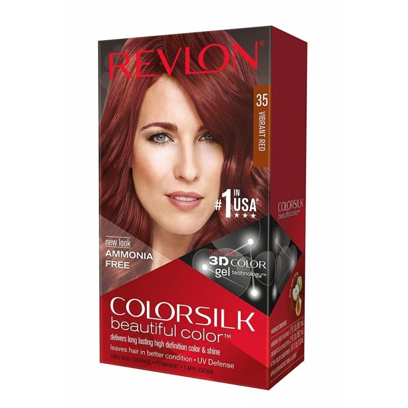 Revlon Colorsilk Permanent Haircolor 35 Vibrant Red
