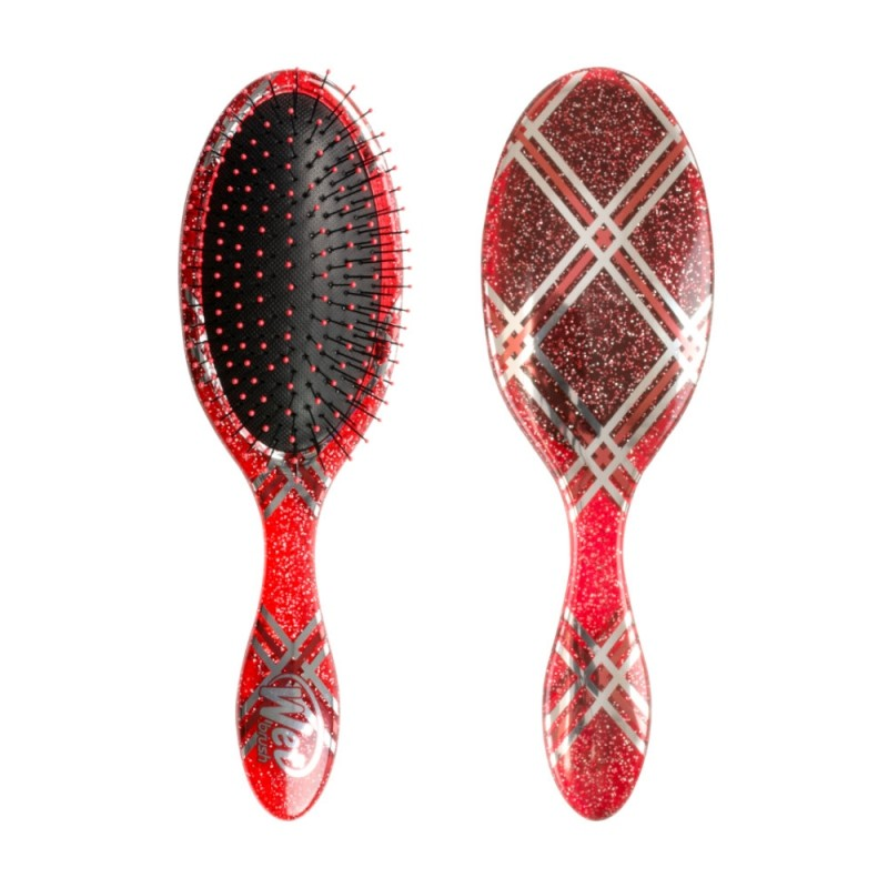 The Wet Brush Pro Original Detangler Holiday Red Plaid