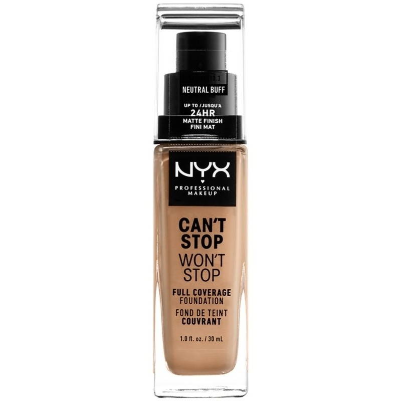 NYX Can't Stop Won't Stop Foundation Neutral Buff