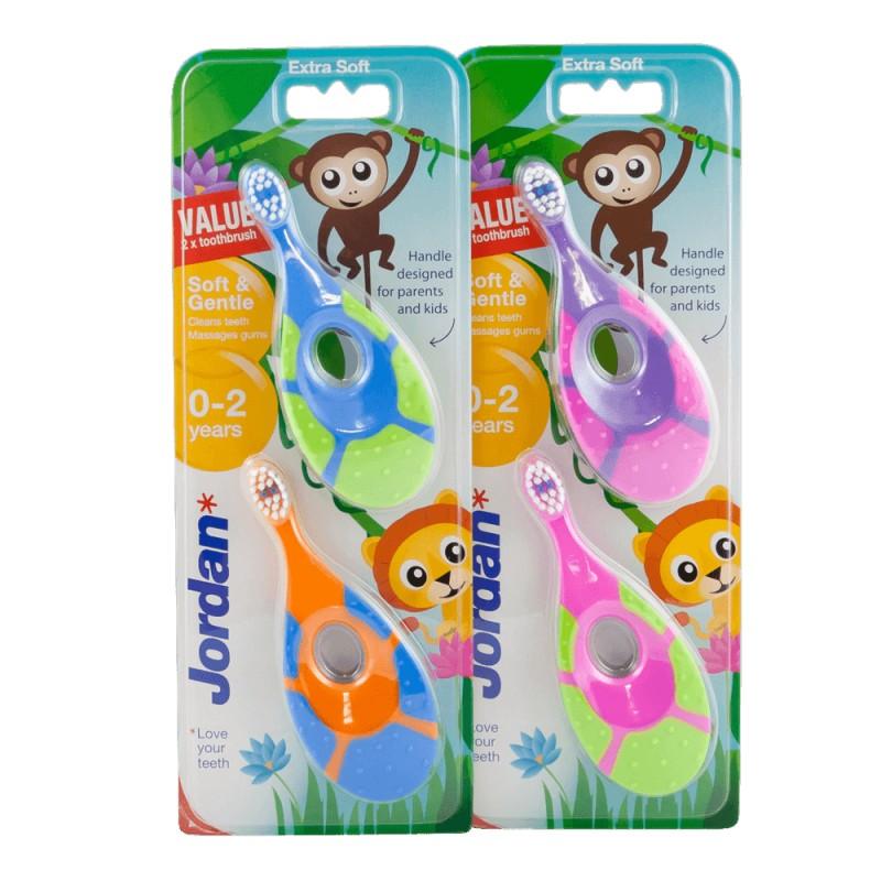 Jordan Step 1 Toothbrush 0-2 Years Duo Pack