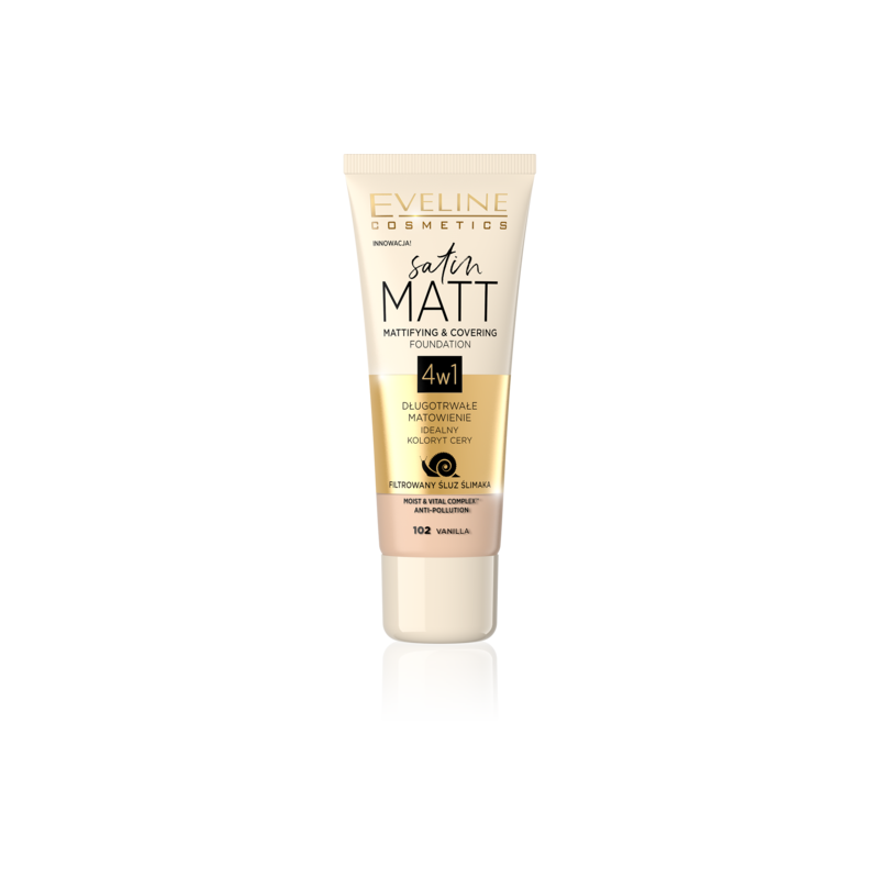 Eveline Satin Matt Mattifying & Covering Foundation 101 Ivory