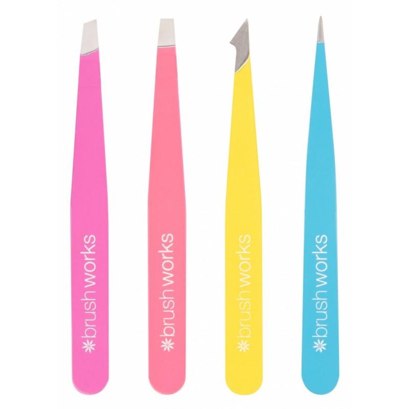 Brush Works Combination Tweezer Set Neon