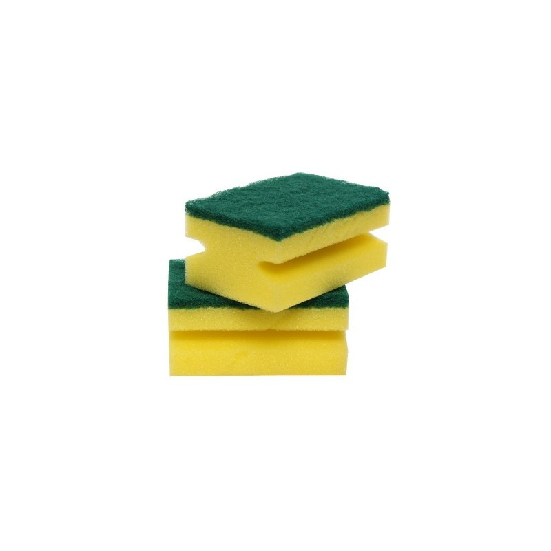 Super Bright Hand-Grip Sponge Scourers