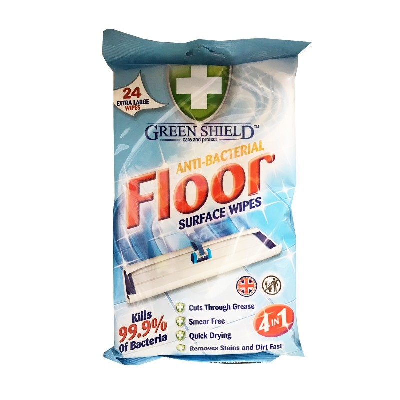 Green Shield Anti-Bacterial Floor Surface XL Wipes
