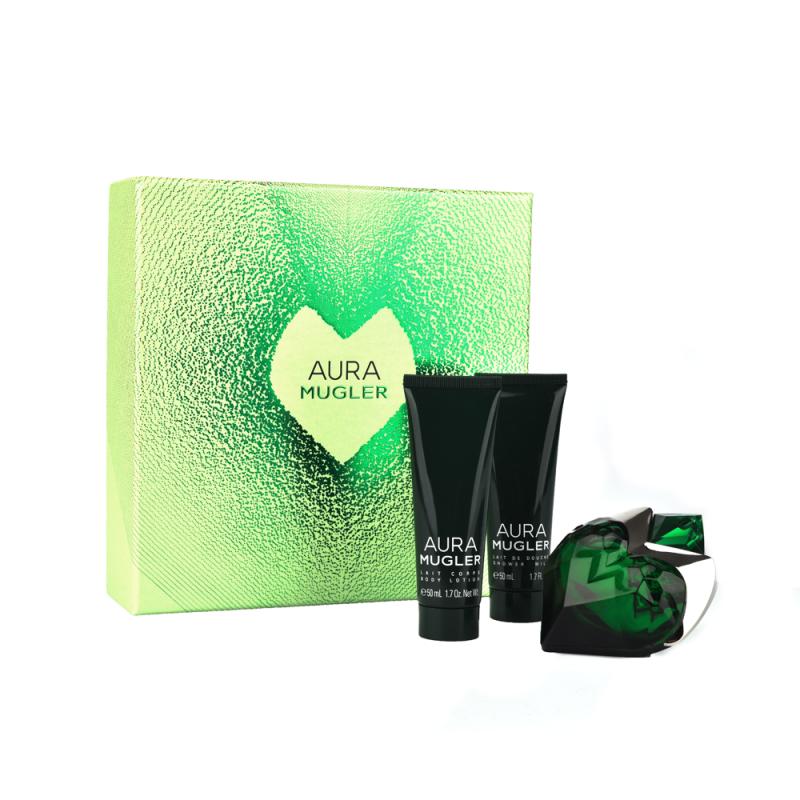 Thierry Mugler Aura Mugler EDP & Body Lotion & Shower Gel