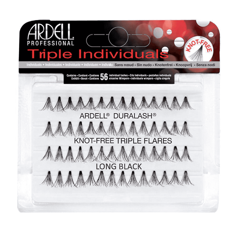 Ardell Triple Individuals Knot-Free Triple Flares Long Black