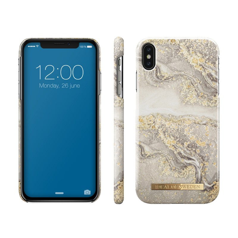 iDeal Of Sweden Fashion iPhone X/XS Case Sparkle Greige Marble