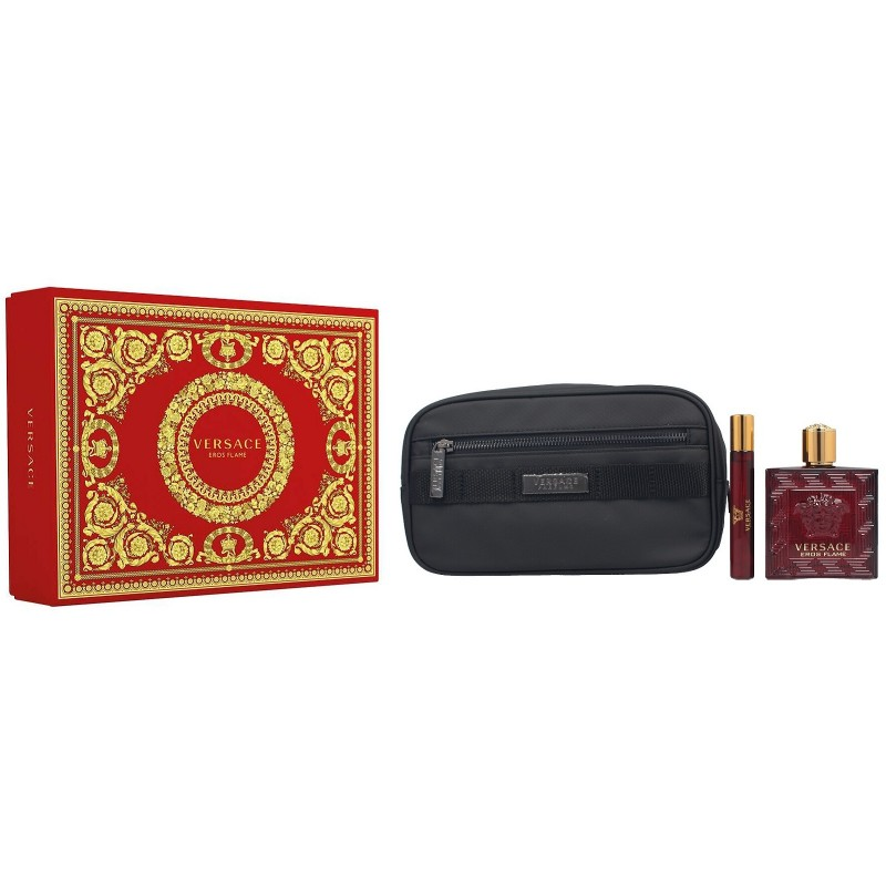 Versace Eros Flame Pour Homme EDP & EDP Mini & Toiletry Bag