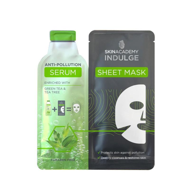 Skin Academy Indulge Anti-Pollution Serum Sheet Mask