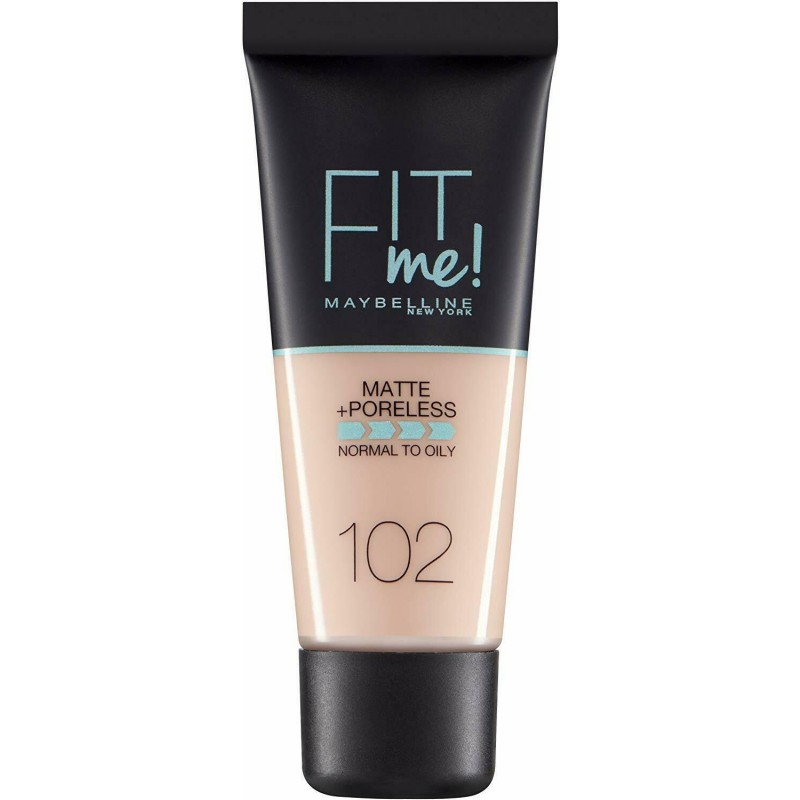 Maybelline Fit Me Matte & Poreless Foundation 102 Fair Ivory