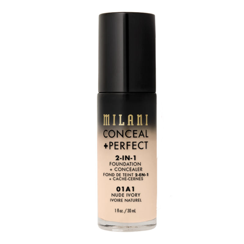 Milani Conceal + Perfect 2in1 Foundation + Concealer 01A1 Nude Ivory