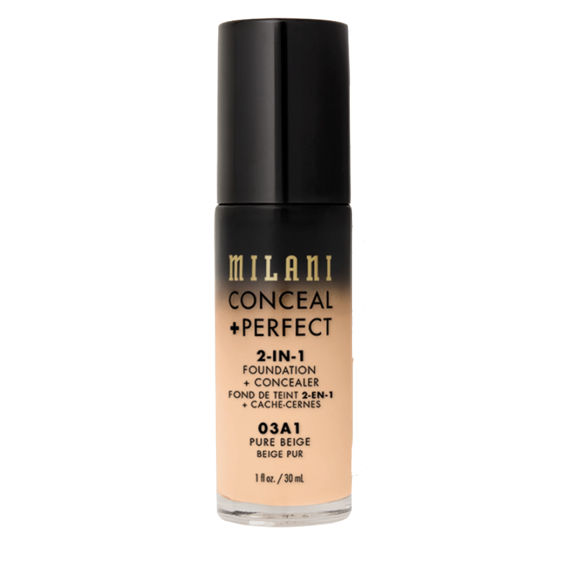 Milani Conceal + Perfect 2in1 Foundation + Concealer 03A1 Pure Beige