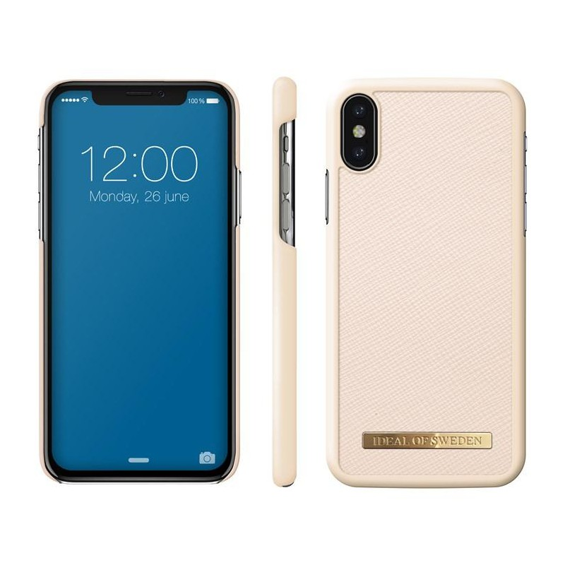 iDeal Of Sweden Saffiano Case iPhone X/XS Beige Cover