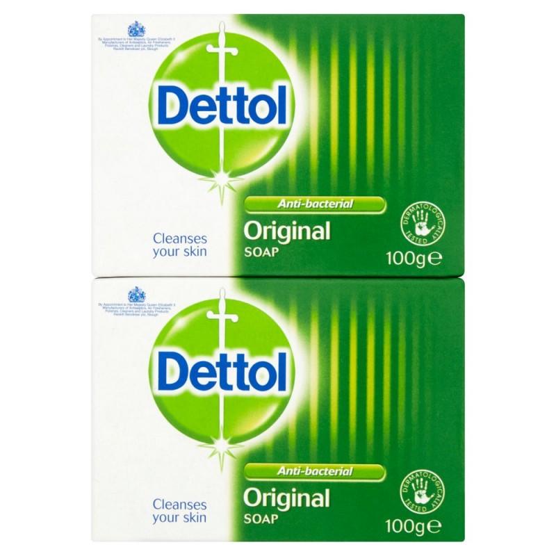 Dettol Original Antibacterial Soap Bar Duo
