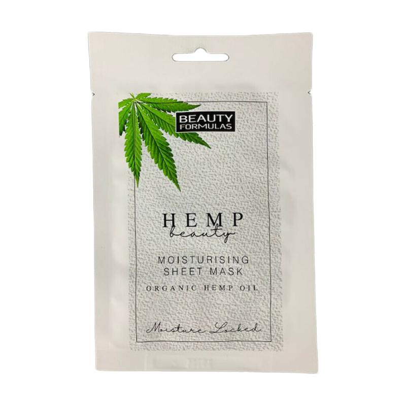 Beauty Formulas Organic Hemp Oil Moisturising Sheet Mask