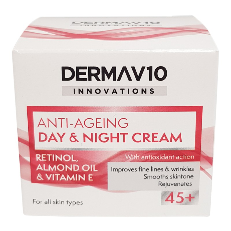 DermaV10 Anti-Ageing Day & Night Cream 45+