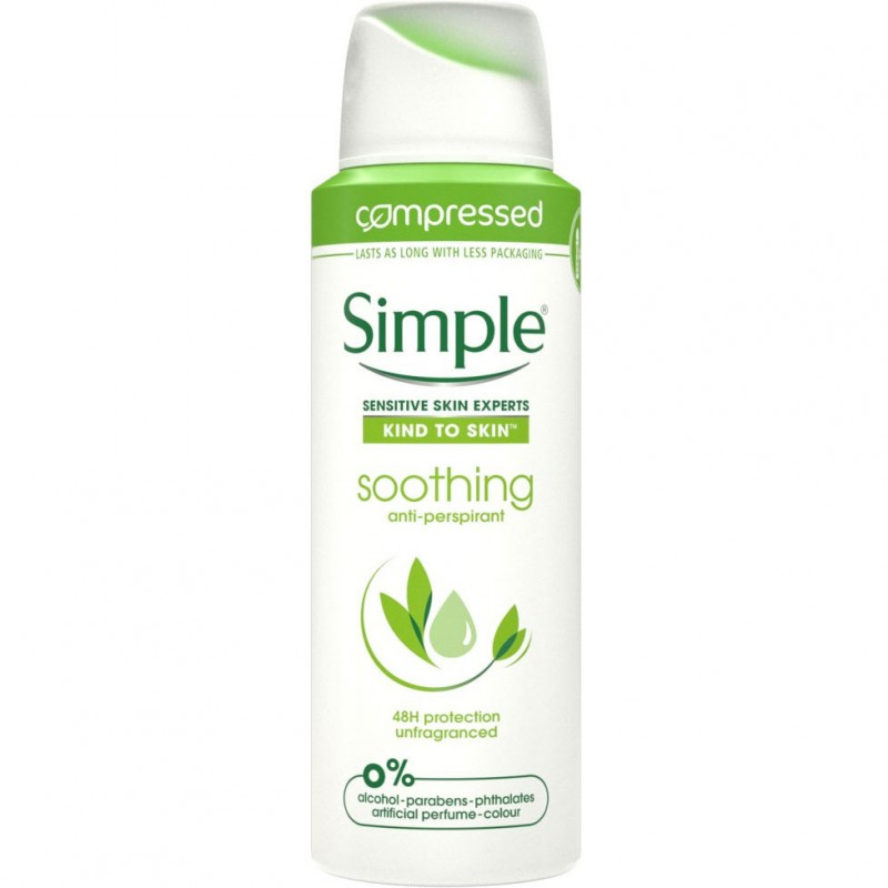 Simple Soothing Anti-Perspirant Deospray