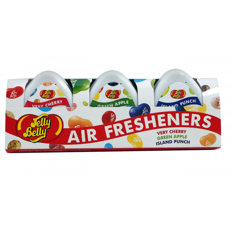 Jelly Belly Air Freshener Very Cherry, Green Apple & Island Punch