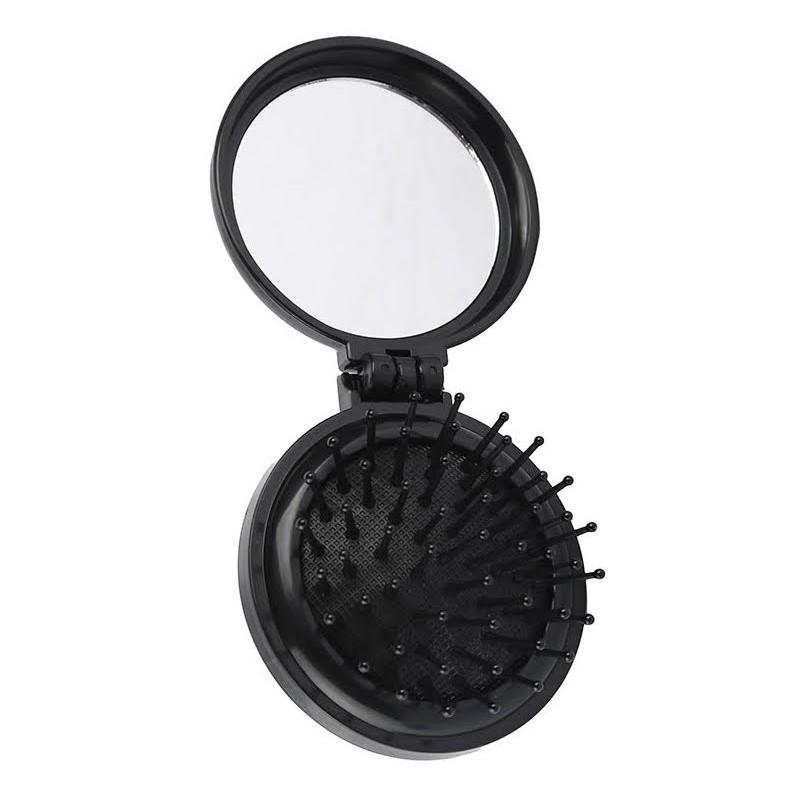 Basics Basics Hair Brush Mirror Black