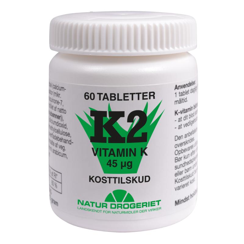 Natur Drogeriet K2-Vitamin Tabletter 45 ug