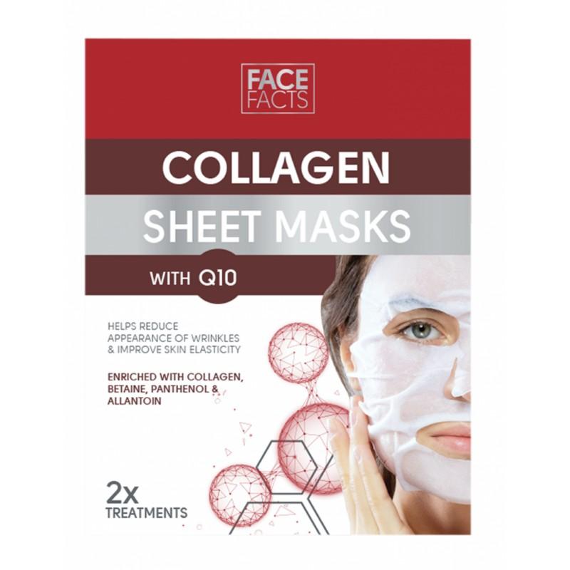 Face Facts Collagen Q10 Sheet Masks