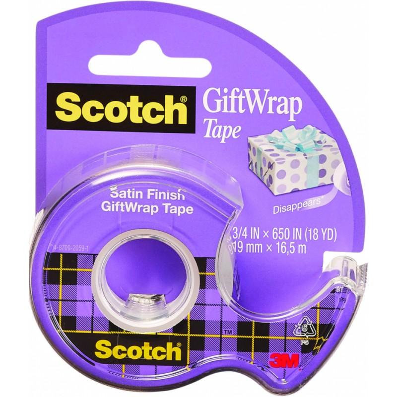 Scotch Satin Finish Giftwrap Tape
