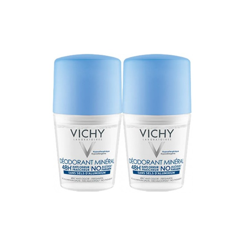 Vichy 48H Mineral Deo Roll On Duo