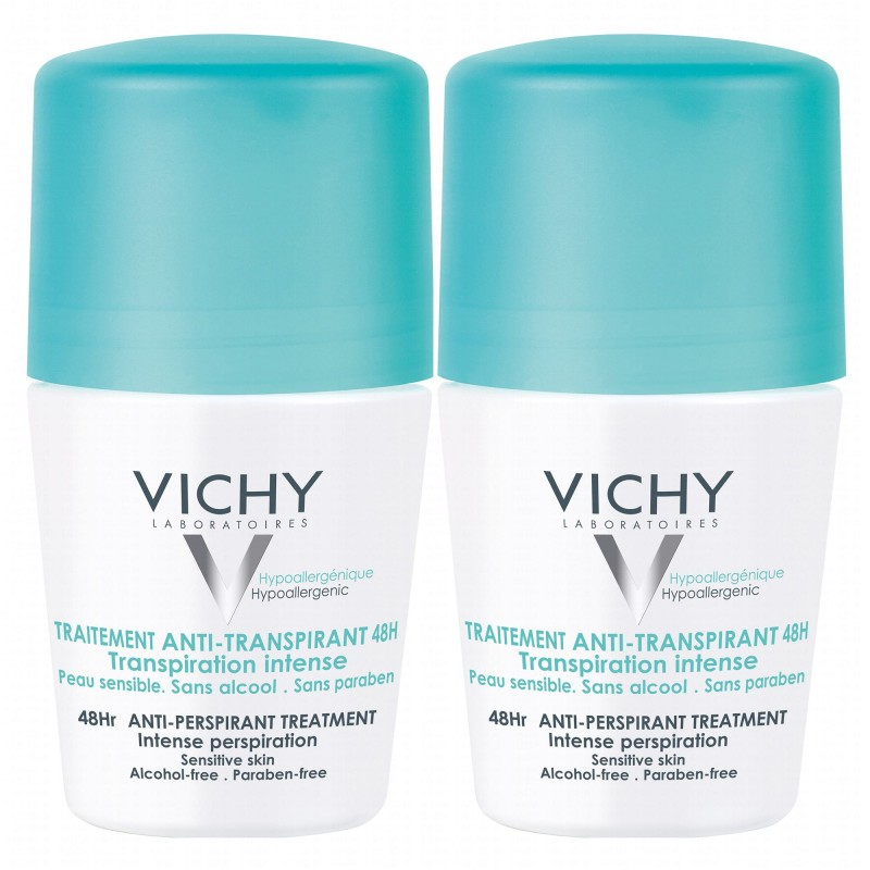 Vichy 48HR Anti-Perspirant Sensitive Deo Roll On Duo