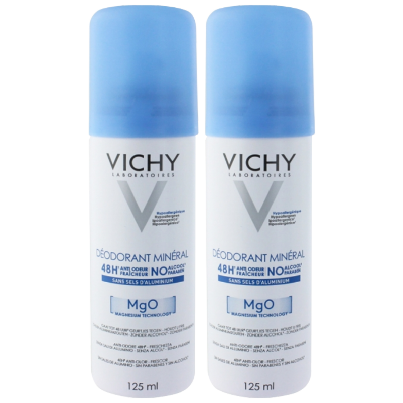 Vichy 48H Mineral Deospray Duo