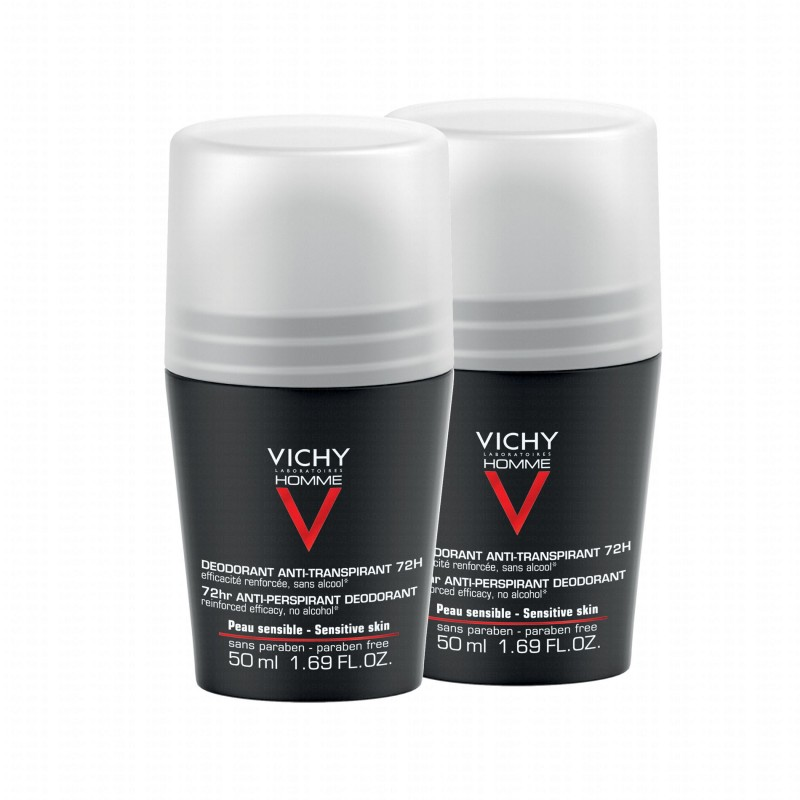 Vichy 72HR Anti-Perspirant Deo Roll On Duo