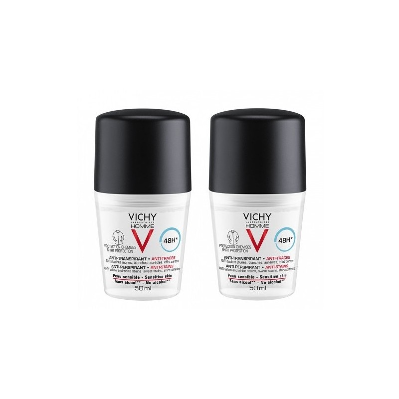 Vichy Homme Anti-Stains Deo Roll On