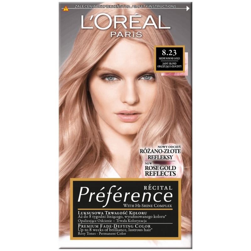 L'Oreal Preference 8.23 Shimmering Rose Gold