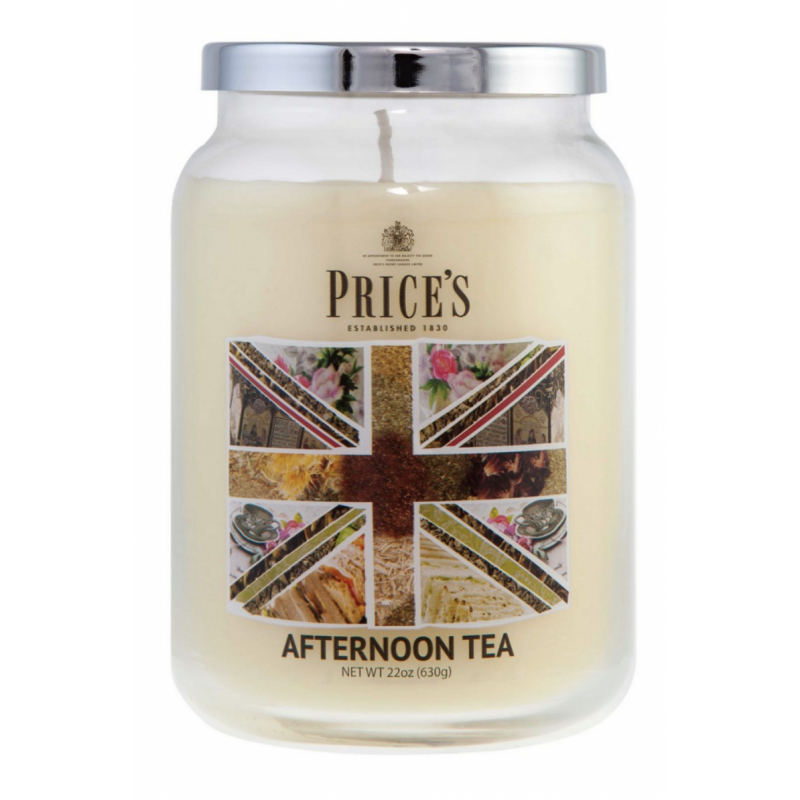 Price's Large Jar Scented Candle Afternoon Tea