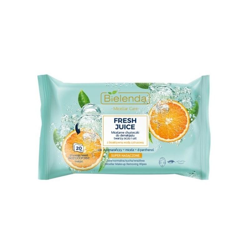 Bielenda Fresh Juice Micellar Care Wipes Oranges