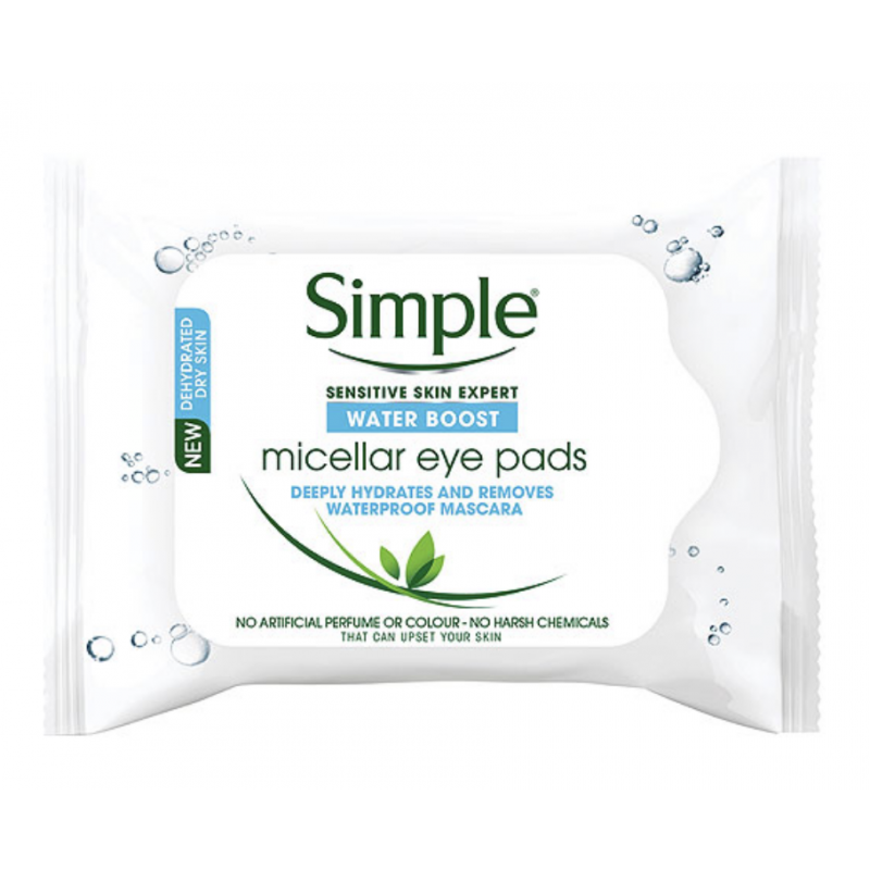 Simple Water Boost Micellar Eye Pads