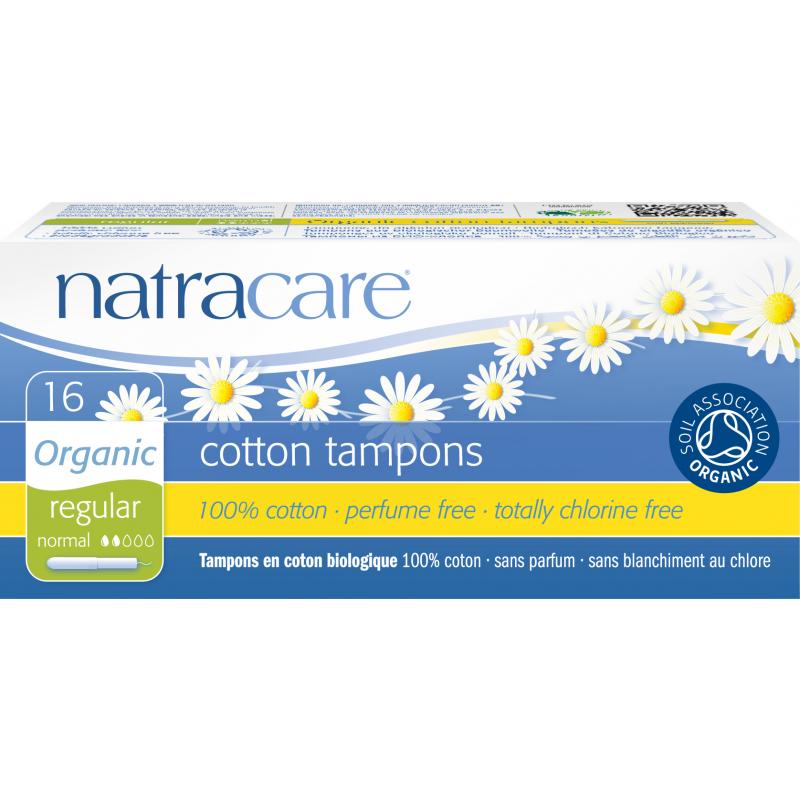 NatraCare Organic Cotton Tampons Regular