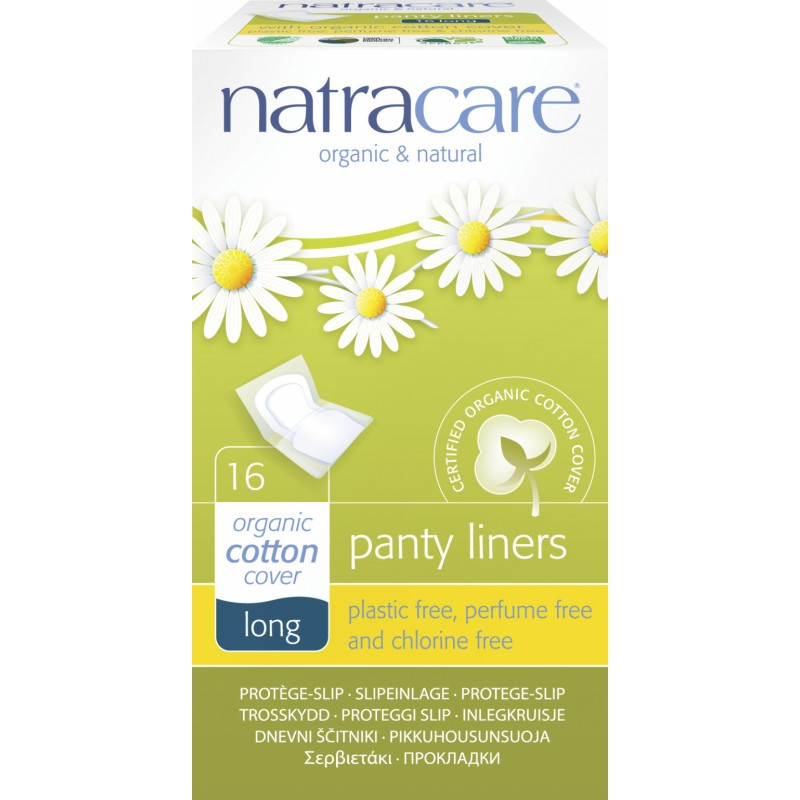 NatraCare Organic Cotton Panty Liners Long