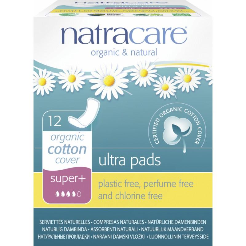 NatraCare Organic Cotton Ultra Pads Super+