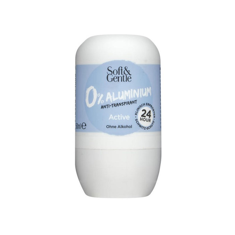 Soft & Gentle Active 0% Aluminium Deo Roll On