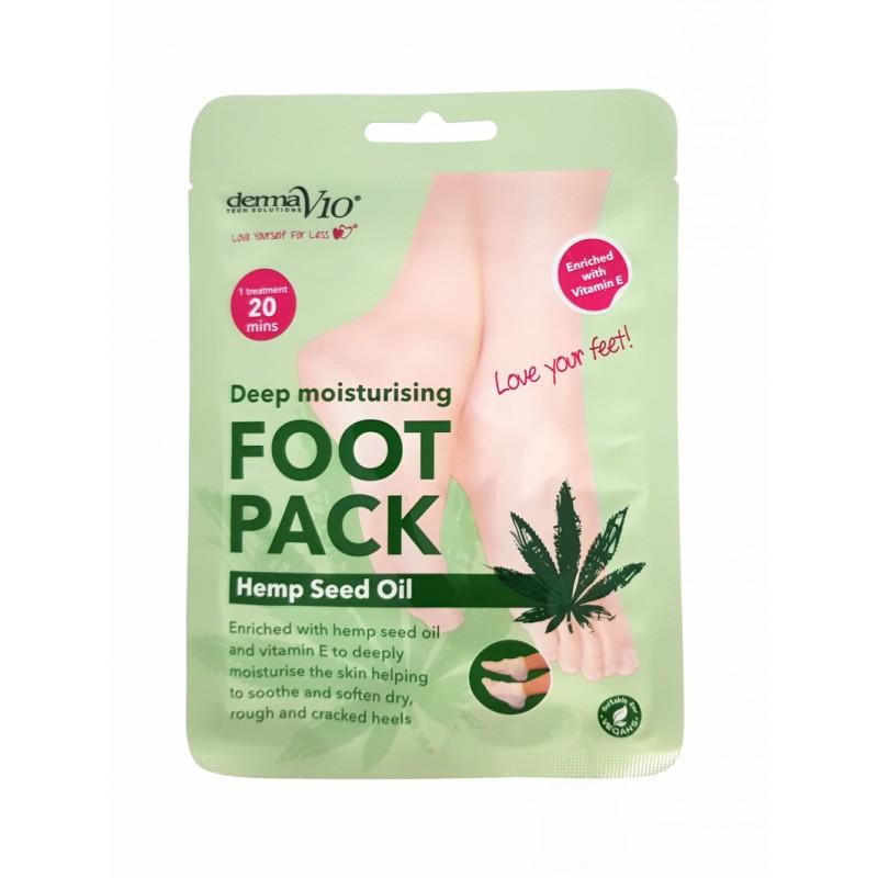 DermaV10 Deep Moisturising Foot Pack  Hemp Seed Oil