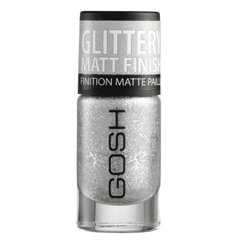 GOSH Frosted Nail Lacquer 01 Silver