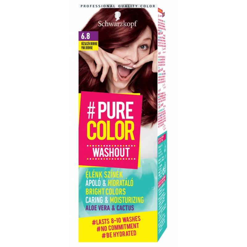 Schwarzkopf Pure Color Washout 6.8 Pink Brownie