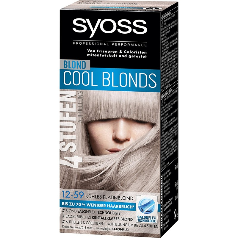Syoss Cool Blonds 12.59 Cool Platinum Blonde