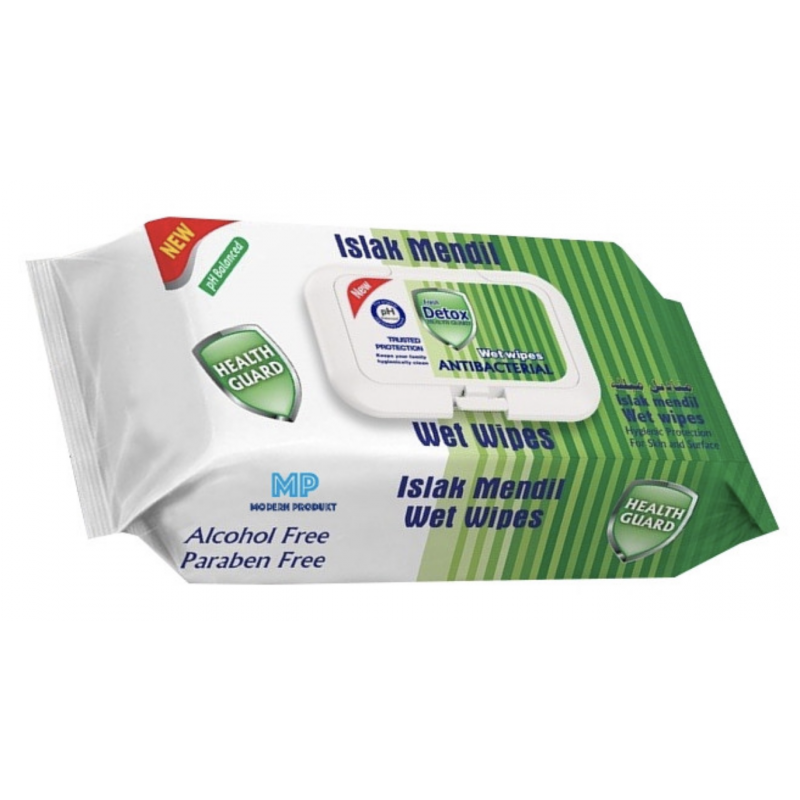 Fresh Detox Antibacterial Wet Wipes Green