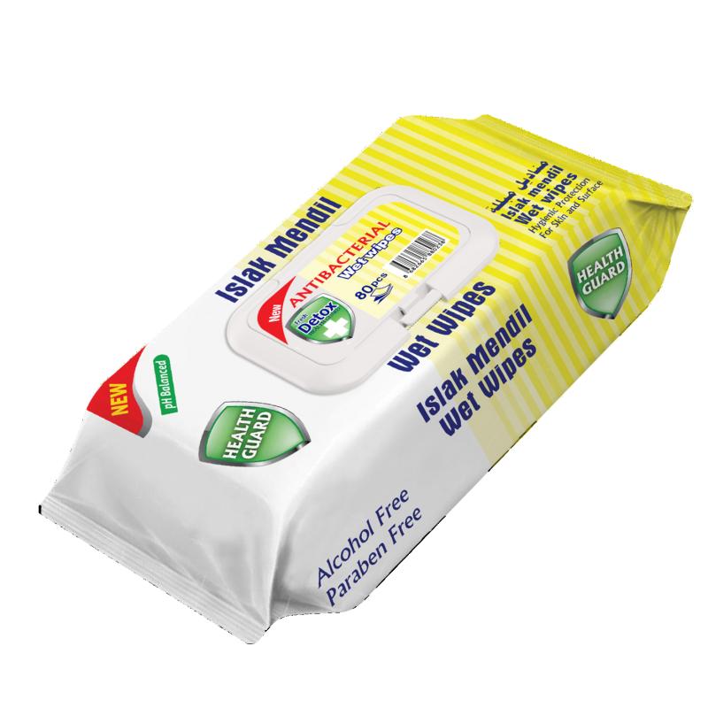 Fresh Detox Antibacterial Wet Wipes Yellow